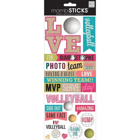 - Specialty Stickers-Love Volleyball