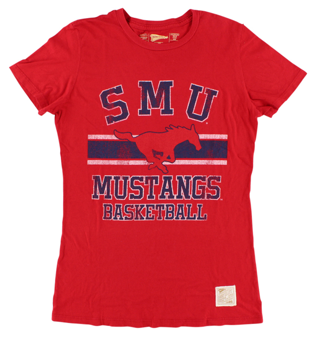 The Victory Womens SMU Mustangs College Basic Crew T Shirt Red