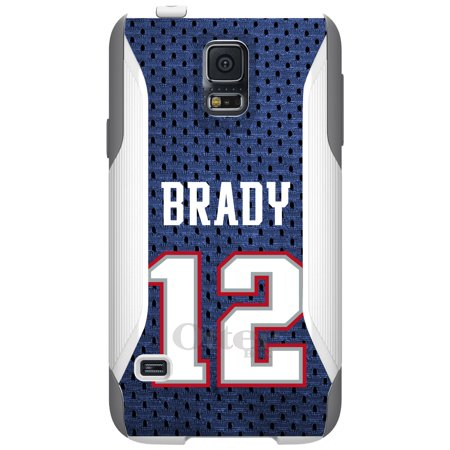Distinctink  Custom White Otterbox Commuter Series Case For Samsung Galaxy S5   Brady 12 Jersey