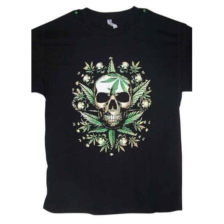 Skulls Marijuana- Cannabis - Weed US Screen Printed T Shirts - Medium  Size   - Gifts  (MARTS114-M*)