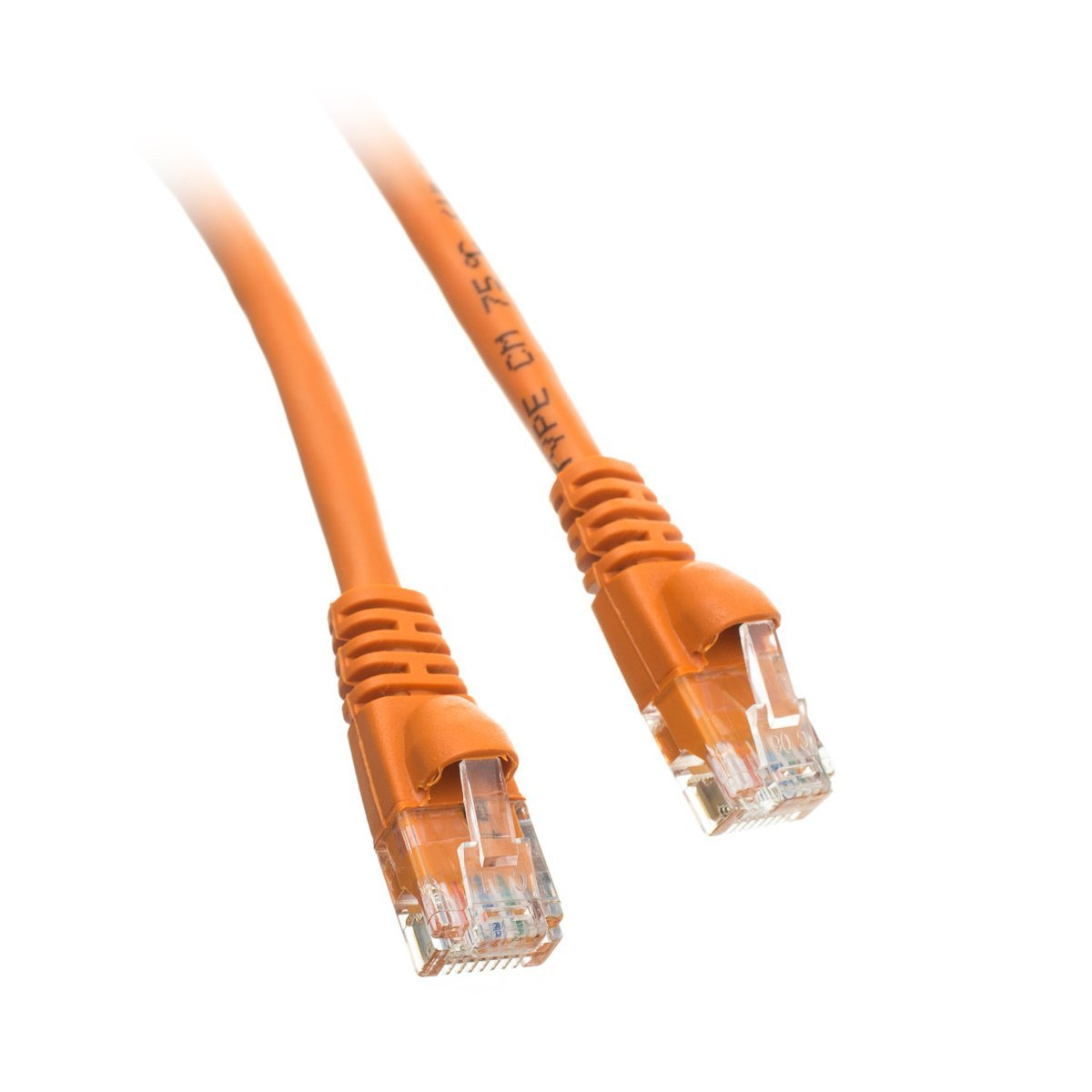 Pack of 3 ED896326 Snagless//Molded Boot 25 Feet Cat5e Orange Ethernet Patch Cable
