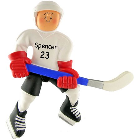 Personalized Christmas Ornament - Hockey Player