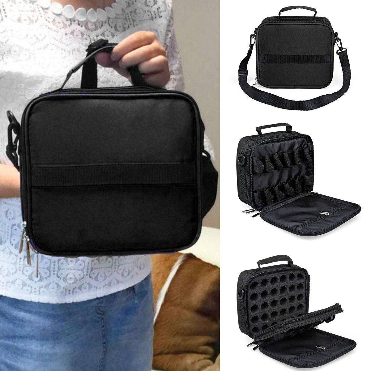 42 Bottle Portable Essential Oil Carrying Case Nail Polish Bag Holder Storage Carry Tote