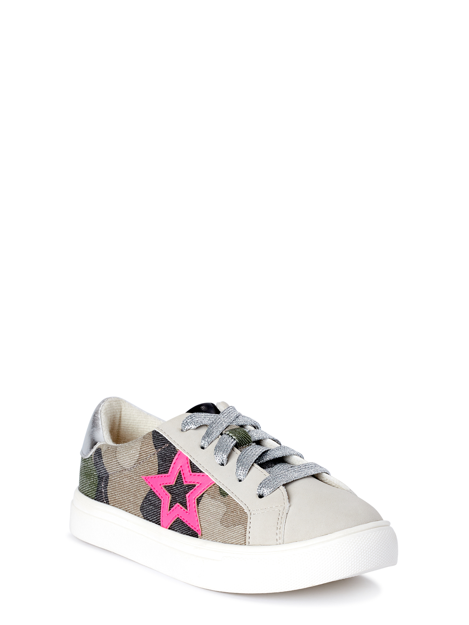 Girls//toddler Size 9 Wonder Nation Sneakers Shoes Black Mess//Pink Soles W//Strap