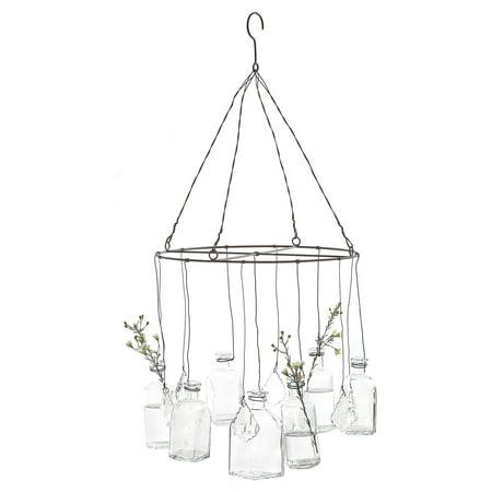 3R Studios Hanging Glass Vases Chandelier Hanging Glass Vases