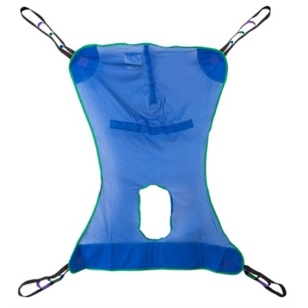 Mesh Full Body Commode Sling, Patient Lift Sling with Commode Opening, Large Size, 4 or 6 Points, Without Head Support