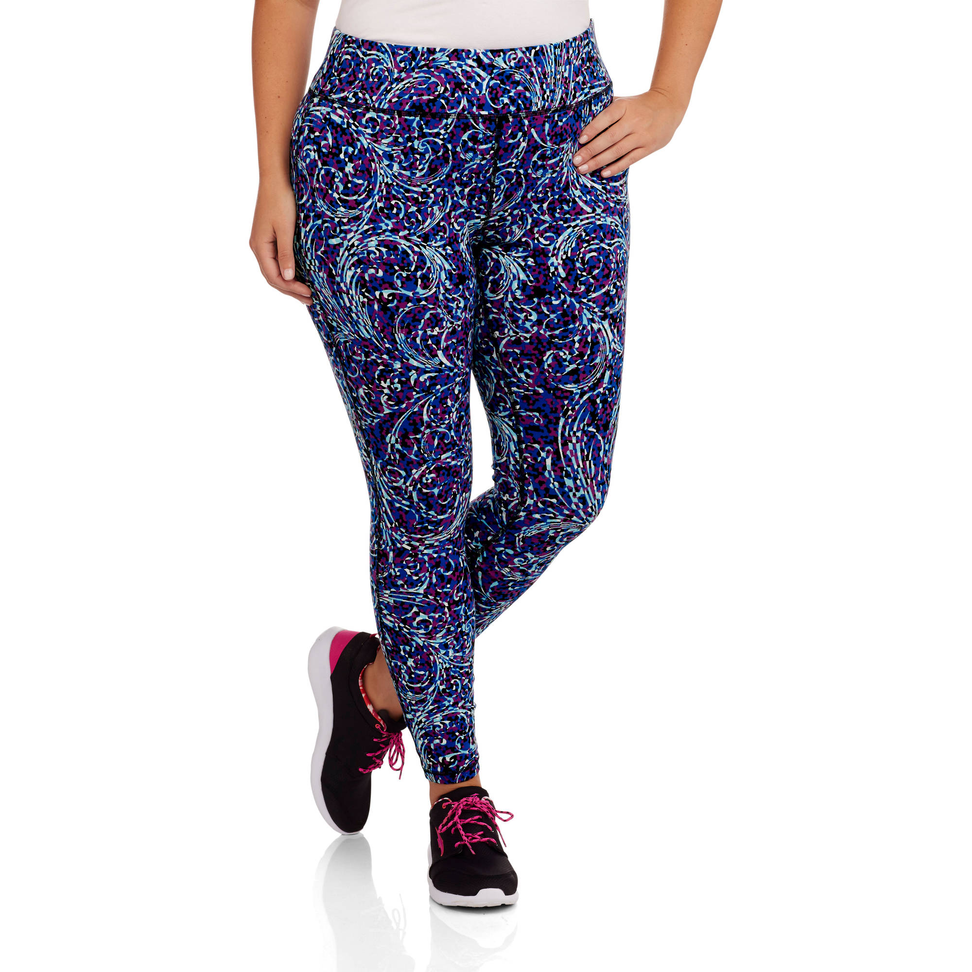 Danskins Now Women's Plus-Size All Over Print Legging