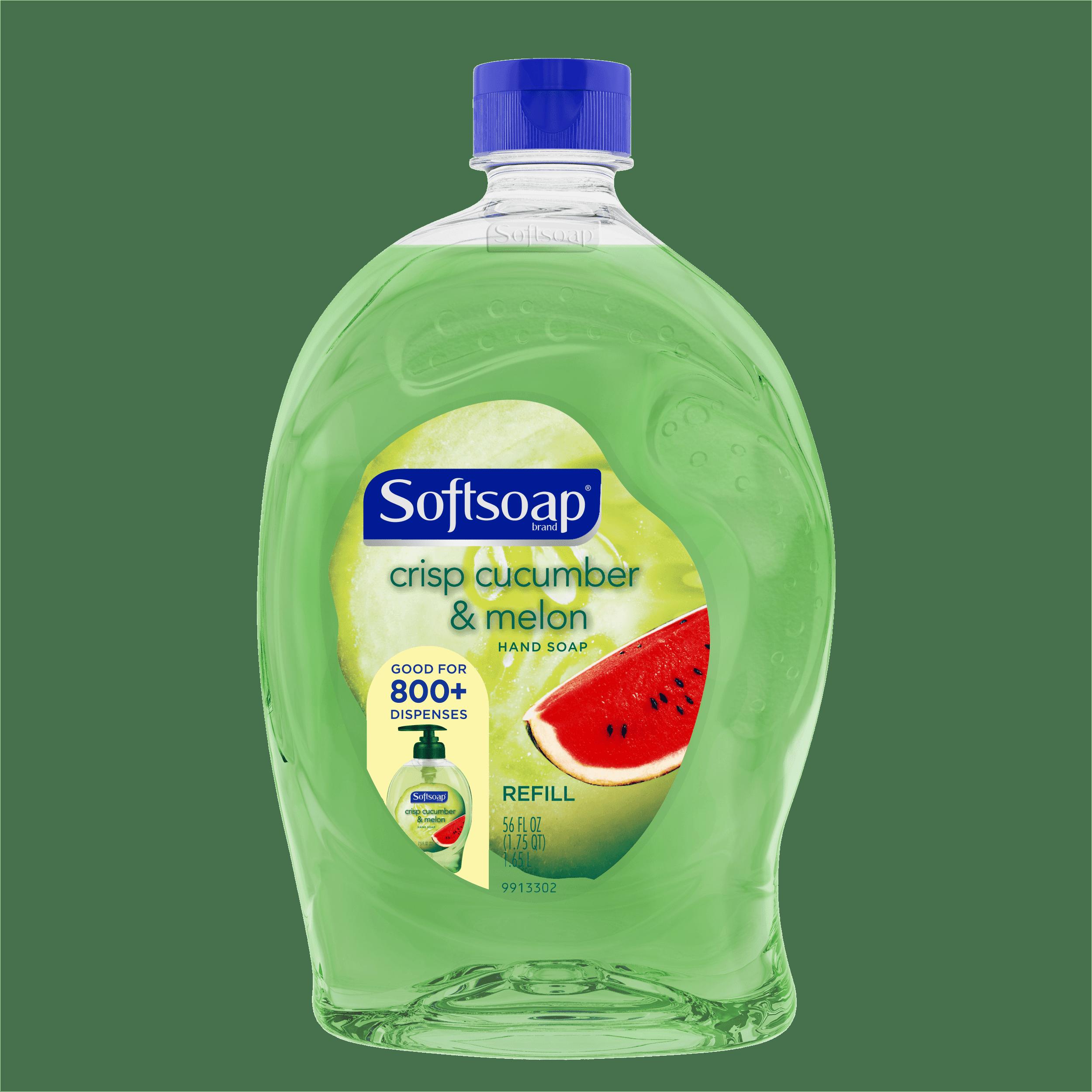 (2 pack) Softsoap Liquid Hand Soap Refill, Crisp Cucumber & Melon, 56 Oz