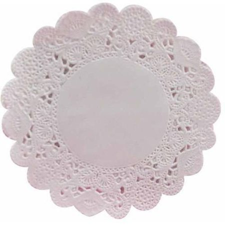 School Smart Round Paper Lace Doilies, Multiple Sizes, White, Pack of 100