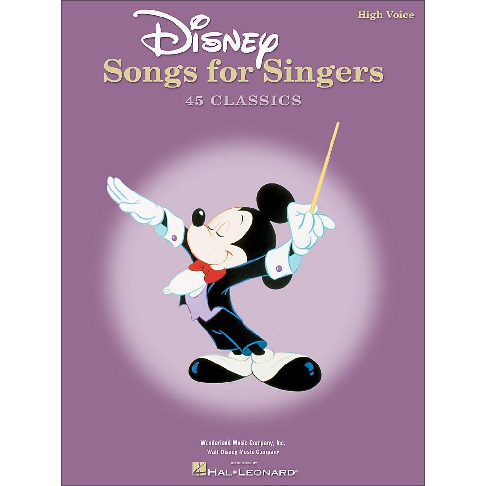 Hal Leonard Disney Songs for Singers for High Voice