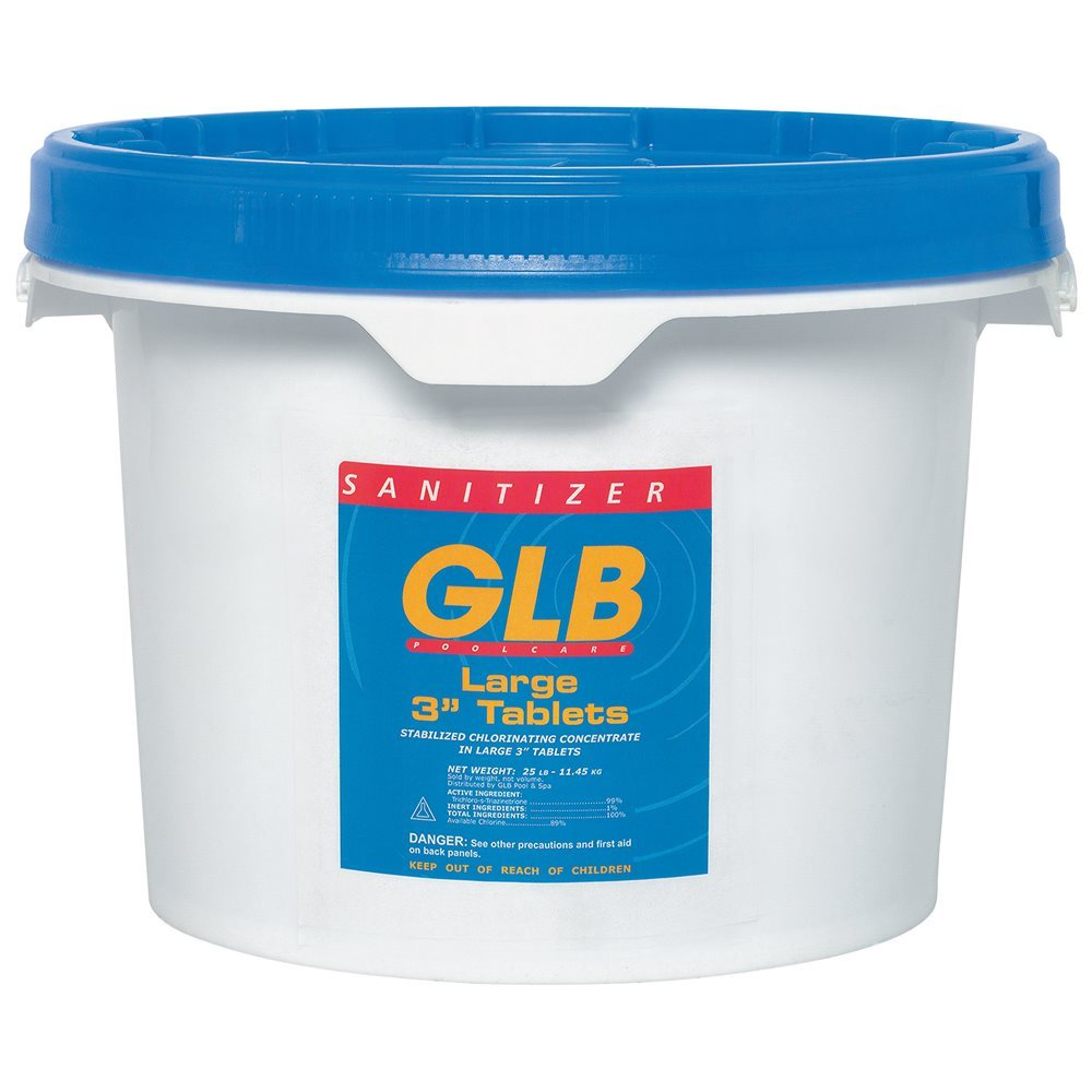 GLB 71231A Individually Wrapped 3 in. Chlorinating Tablets, 50 lbs.