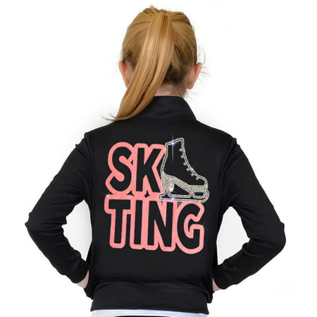 05cdbf6e3c177 Stretch Is Comfort - Stretch Is Comfort Girl's and Women's Rhinestone Ice  Skating Performance Jacket with Pockets - Coral / Adult Medium (4-6) - ...