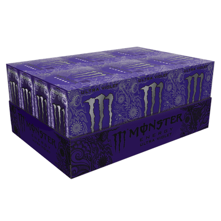 Xs Energy Drink Halloween (Monster Energy Drink, Ultra Violet, 16 Fl Oz, 24)