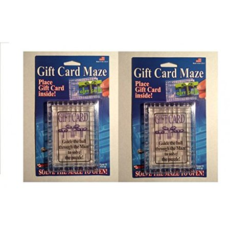 2 Pack - Gift Card Maze - Puzzle Brain Teaser - Fun Challenge Gag Gift Holder