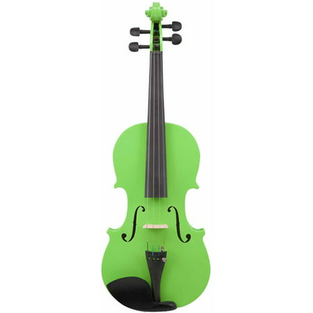 Le\'Var 4/4 Student Violin Outfit, Neon Lime - Neon Outfit