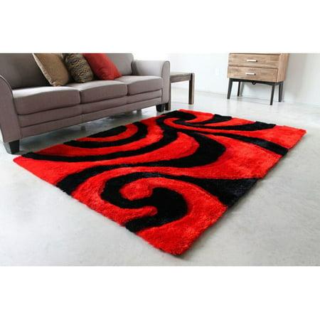 blazing needles red black area rug. Black Bedroom Furniture Sets. Home Design Ideas