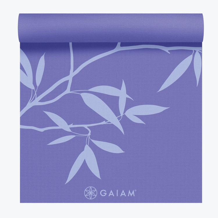 Gaiam Premium Print Yoga Mat Ash Leaves 6mm Walmart Com