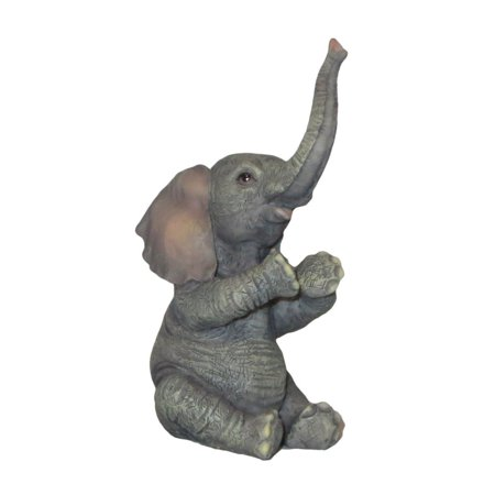 Veronese Design WU70215EB Baby Elephant Sitting And Applauding (Baby Sculpture)