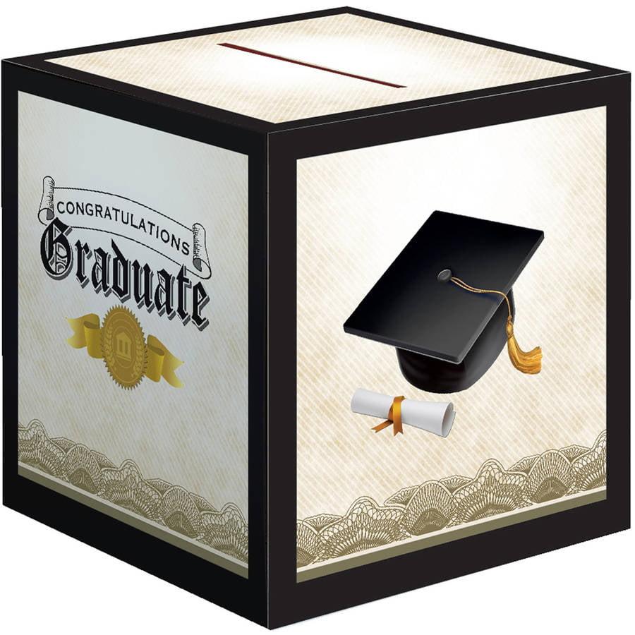 Cap And Gown Graduation Card Box Each Walmart Com