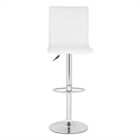 Incredible Safavieh Magda 23 2 29 5 Chrome Steel Bar Stool In White Lamtechconsult Wood Chair Design Ideas Lamtechconsultcom