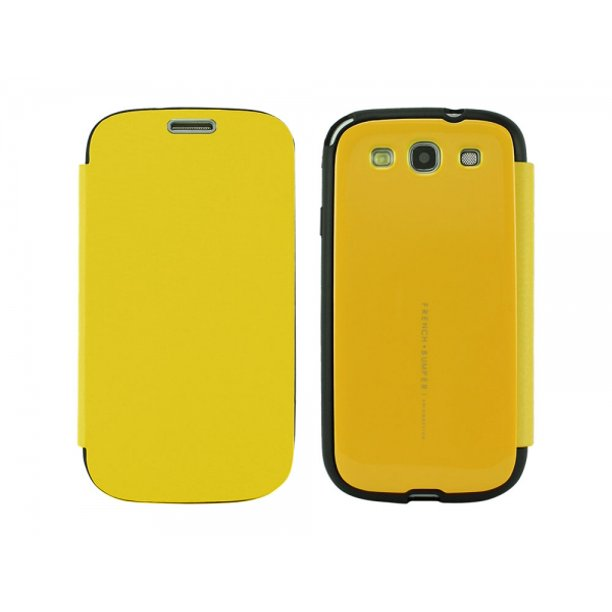 Cellet Arium French Bumper Flip Cover Case For Samsung Galaxy S3 Canary Yellow Walmart Com Walmart Com