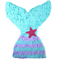 Glittery Mermaid Tail Party Pinata, Purple & Teal Party Decoration, 15.5 in x 19.75 in