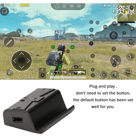 G1X PUBG Mobile Gamepad Controller Gaming Keyboard Mouse Android Phone to PC Converter Adapter for i-Phone Converter + keyboard + mouse - image 3 de 7