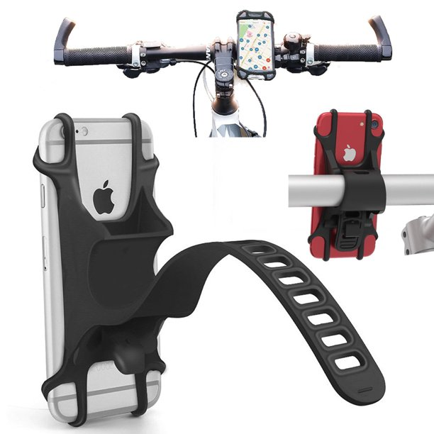 Agoz Universal Bike Cell Phone Holder Adjustable Motorcycle Bicycle Handlebar Mount for ZTE Blade Vantage 2, Blade X, Blade V8...