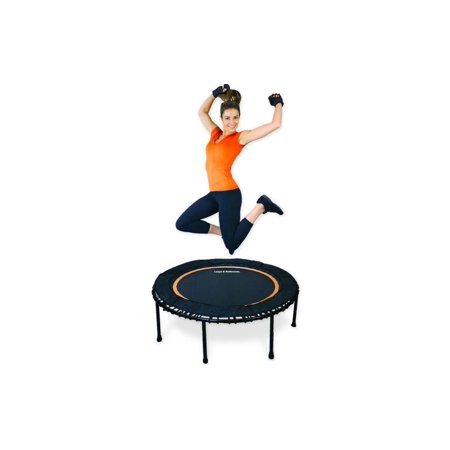 The Leaps & ReBounds Fitness Trampoline - Bungee (Orange And Blue Color Mix)