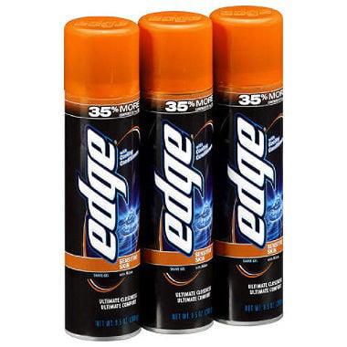 Edge Shave Gel, Sensitive Skin, 9.5 Oz, 3 Ct