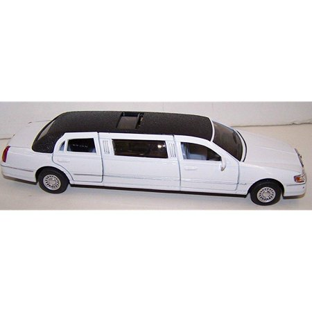 kinsmart 1/38 scale diecast 1999 lincoln town car stretch limousine in color