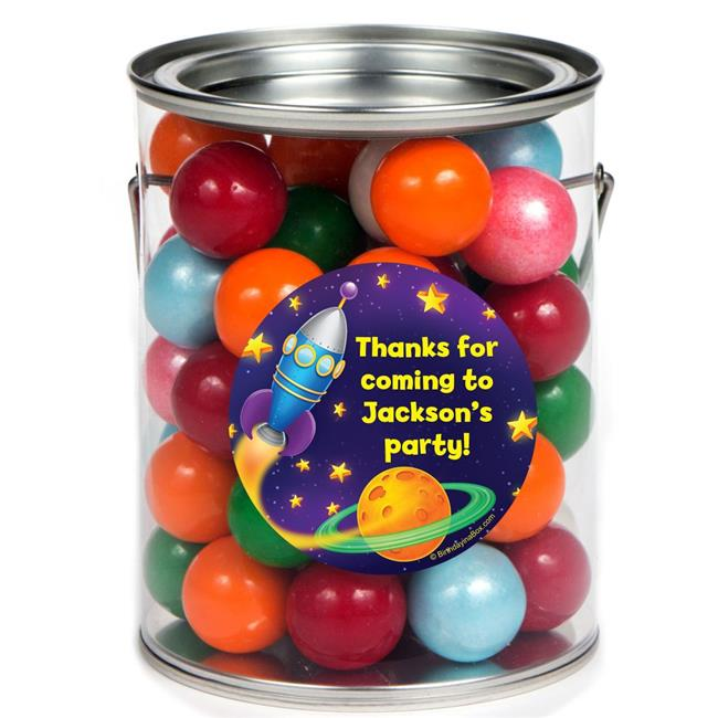 Costume Supercenter BB1339PC Space Personalized Paint Can Favor Container - Pack of 6
