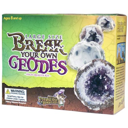 Open Geodes (Large Size Break Open Geodes High Quality Kit 12 Whole Geodes By Ancient Treasure Adventures )