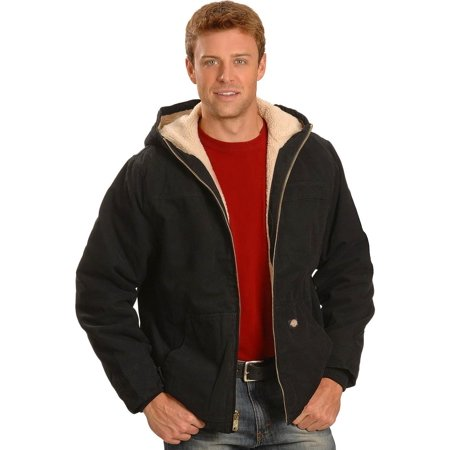 Dickies Mens Hooded Sherpa Lined Work Jacket   Tj350rcb