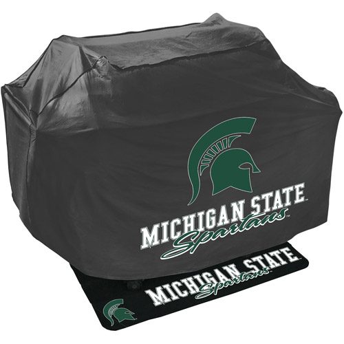 Mr. Bar-B-Q NCAA Grill Cover and Grill Mat Set, Michigan State Spartans