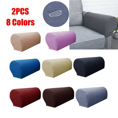 Cool 2 Pcs Waterproof Stretch Furniture Armrest Covers Couch Slipcovers Sofa Chair Arm Protectors Unemploymentrelief Wooden Chair Designs For Living Room Unemploymentrelieforg