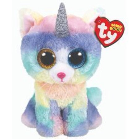 Cp Usa TY Beanie Boos - Heather Uni-Cat Horn (Glitter Eyes) Small 6
