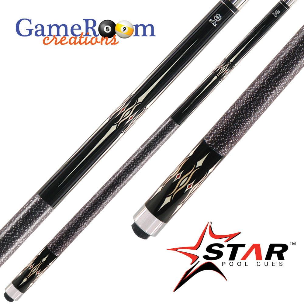 McDermott Star Pool Cue Stick - S48 - Black - 18 19 20 21 oz