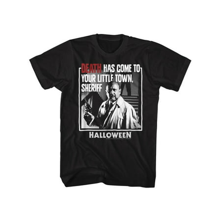 Halloween Scary Horror Slasher Movie Film Death Come To Town Adult T-Shirt Tee (Halloween Town Full Film)