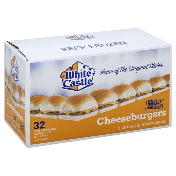 White Castle Cheeseburgers Microwaveable Sandwiches, 32 sandwiches