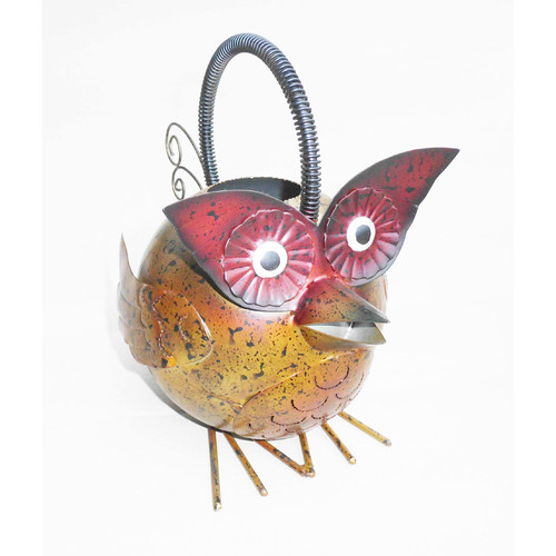 D-Art Collection Iron Owl Watering Can by Overstock