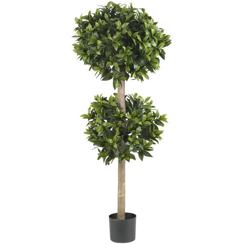 Sweet Bay Double Ball Topiary Silk Tree