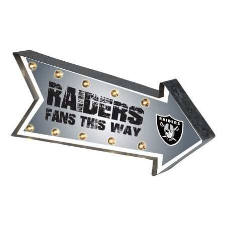 Oakland Raiders Light - Forever Collectibles  Arrow Light Up Marquee Sign, Oakland Raiders