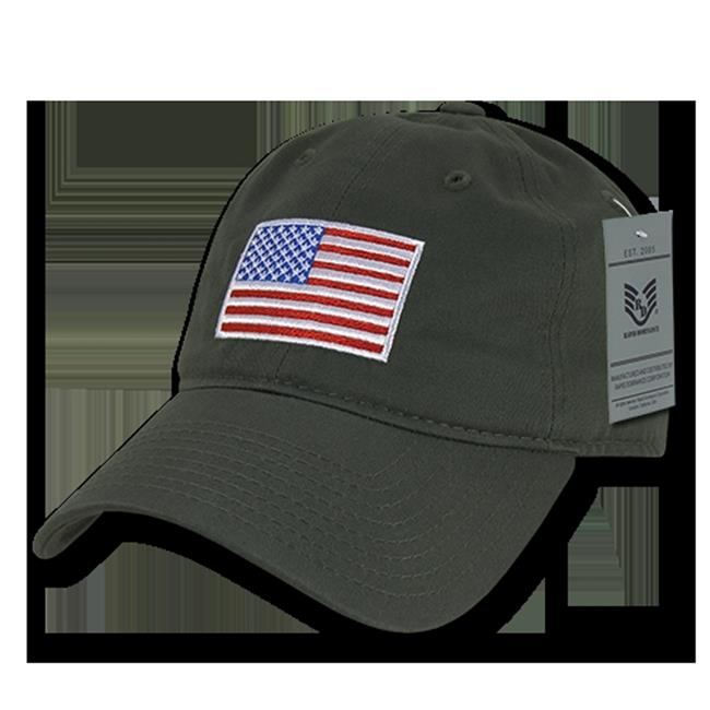 Rapid Dominance A03-USA-WHT Relaxed Graphic Cap 5bbae0ce13e