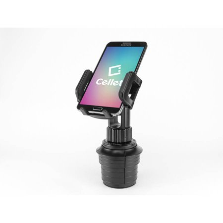 Plus Phone Cradle - Cellet Adjustable Automobile Cup Holder Mount for iPhones, iPods, Smartphones, MP3 Players, GPS Systems