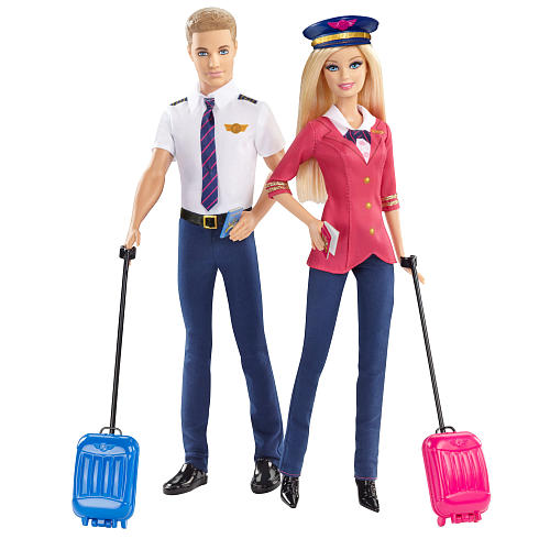 Barbie Pink Passport Pilot and Accessories Dolls