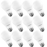 Luxrite A19 LED Light Bulb 60W Equivalent, 2700K Soft White Dimmable, 800 Lumens, Standard LED Bulb 9W, E26 Base, Energy Star, Enclosed Fixture Rated, Perfect for Lamps and Home Lighting (12 Pack)
