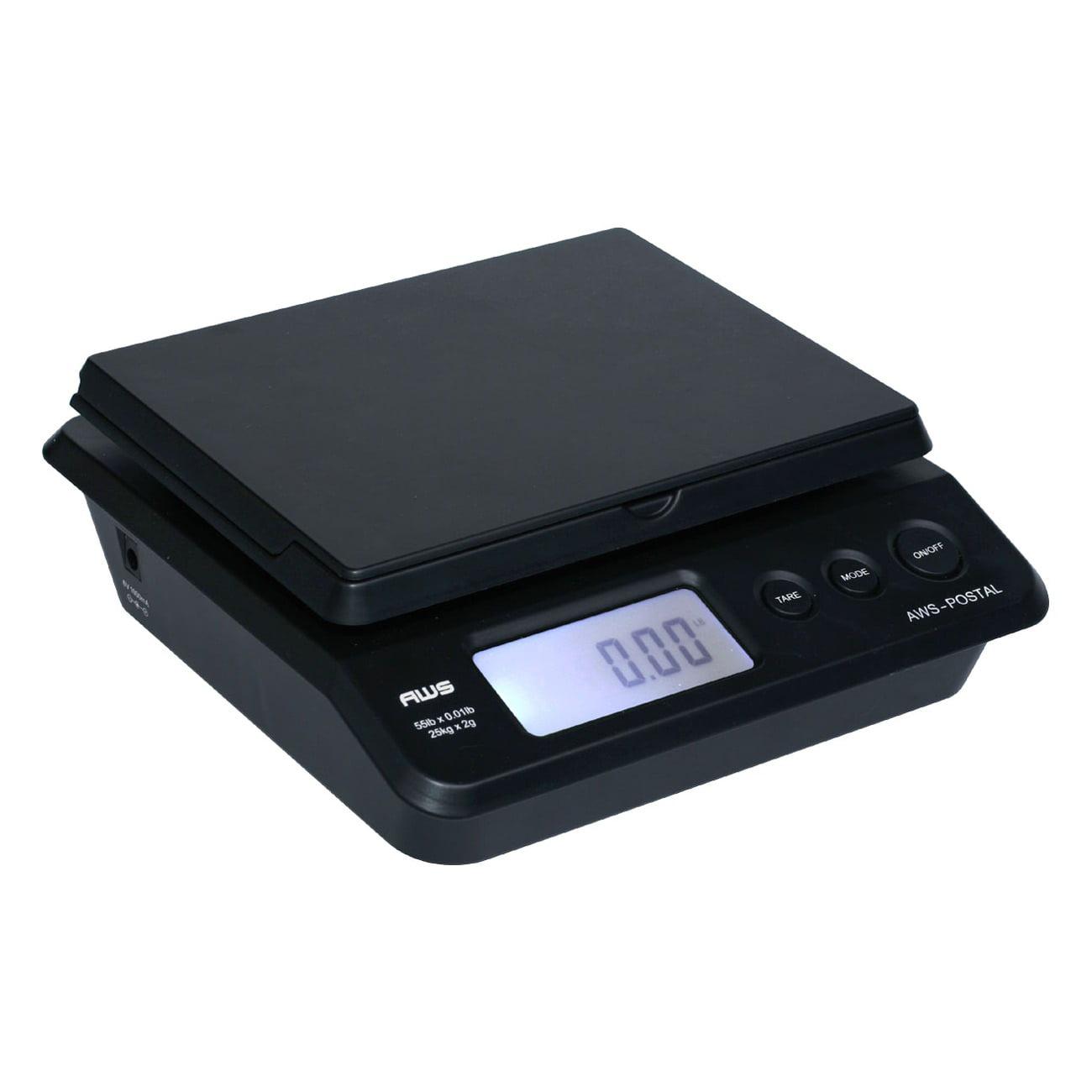 Black Accuteck ShipPro 110lbs x 0.1 oz Digital Shipping Postal Scale