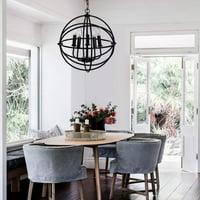 Metal Rustic Pendant Lights Ceiling Chandelier with Light Fixtures