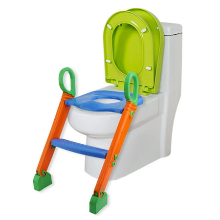 Potty Toilet Seat with Step Stool ladder, (3 in 1) Trainer for...